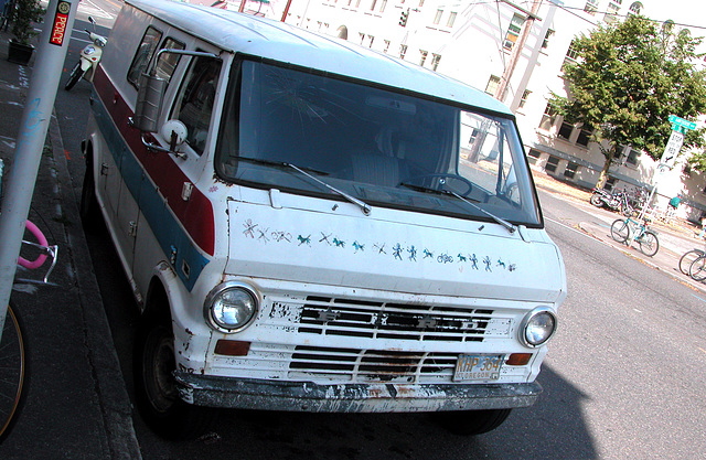 Cars of Portland: Ford van