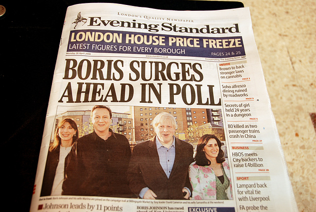 The Evening Standard supports Boris for Mayor of London