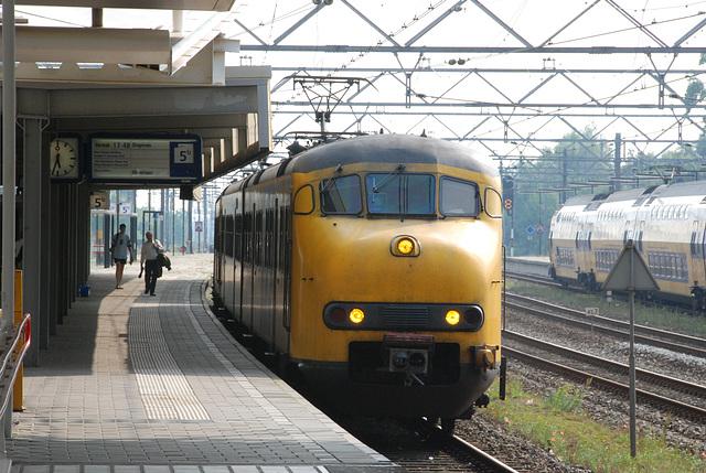 Trains at Leiden Central Station: 801 & 872