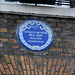 Charles Dickens blue plaque