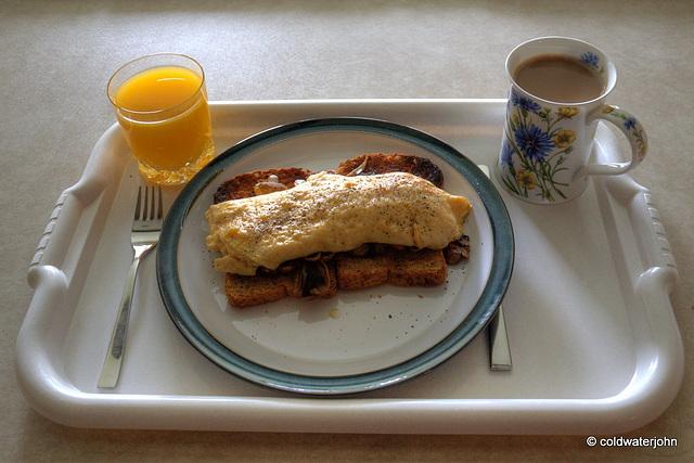 Sir's breakfast is served!