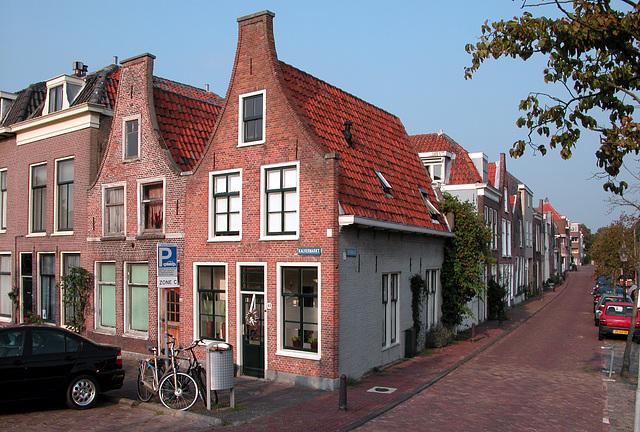 Corner of Kalvermarkt (Calf's Market) and Zuidsingel (South Canal) in Leiden