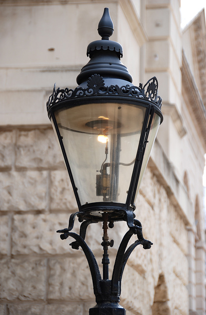 Gas lamp on Horseguards from the reign of King George IV