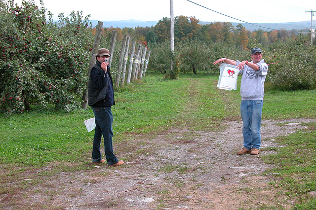 Apple picking with friends in Quebec