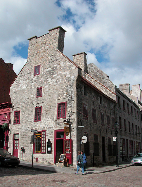 Old house in the Old Harbour of Montreal, Quebec (Canada)