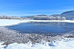 """P1080553- Prairie inondée """"en Sivolière"""" - Raquettes dans les Loups   25 janvier 2014"""