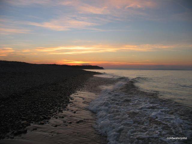 Findhorn Beach at sunset