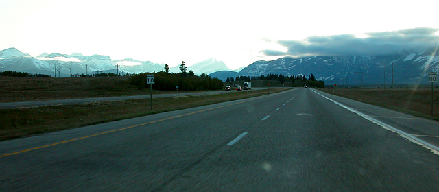 On the way from Calgary to Banff