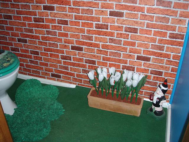 detail of our Dutch dairy farm toilet