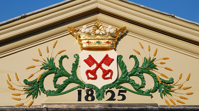 The coat of arms of Leiden without lions