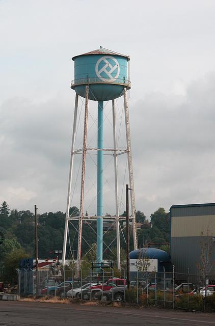 Water tower in Portland, Oregon