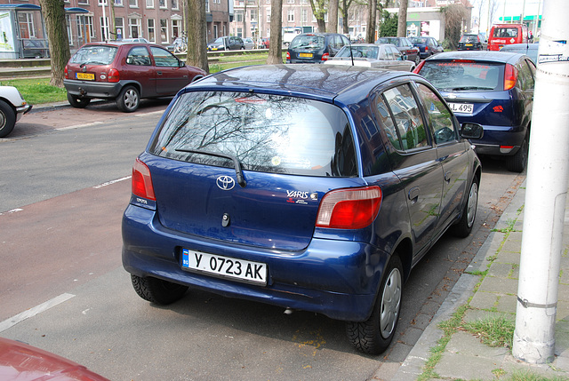 Yaris with Bulgarian plates