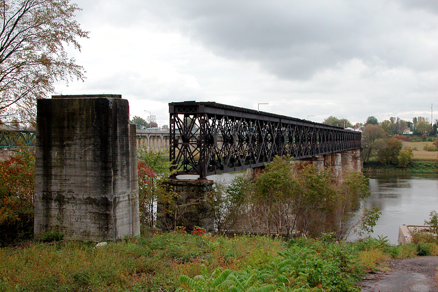 Abandoned bridge in Pierreville, Quebec (Canada)