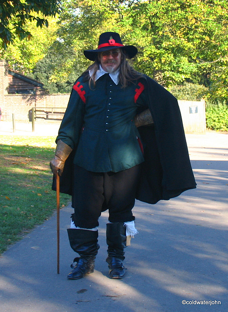 Guy Fawkes out for a stroll at Kenwood House...