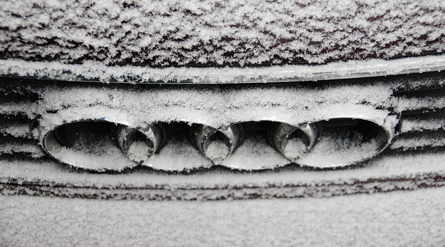 Snow and ice today: Audi rings