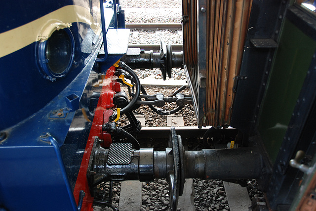 Celebration of the centenary of Haarlem Railway Station: typical screw-hook coupling