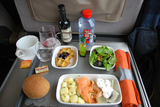 Train journey to London: My meal on board of the Eurostar
