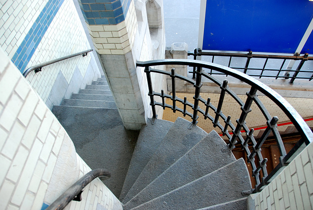 Celebration of the centenary of Haarlem Railway Station: staircase