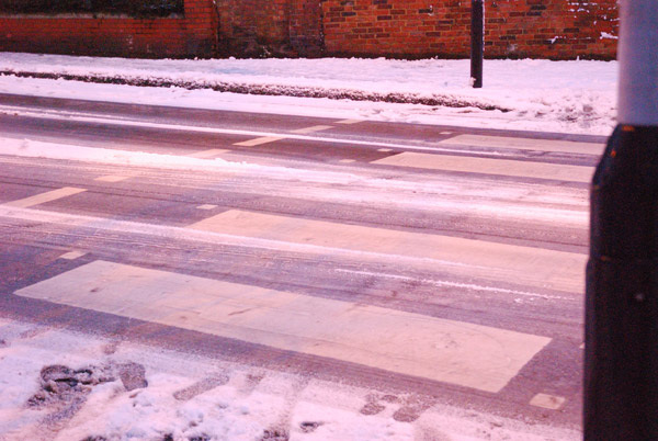 Icy crossing