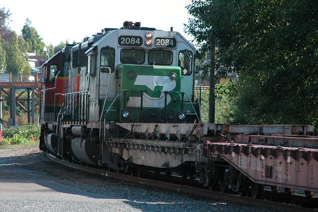 BNSF 2084 on the USA-Canadian border