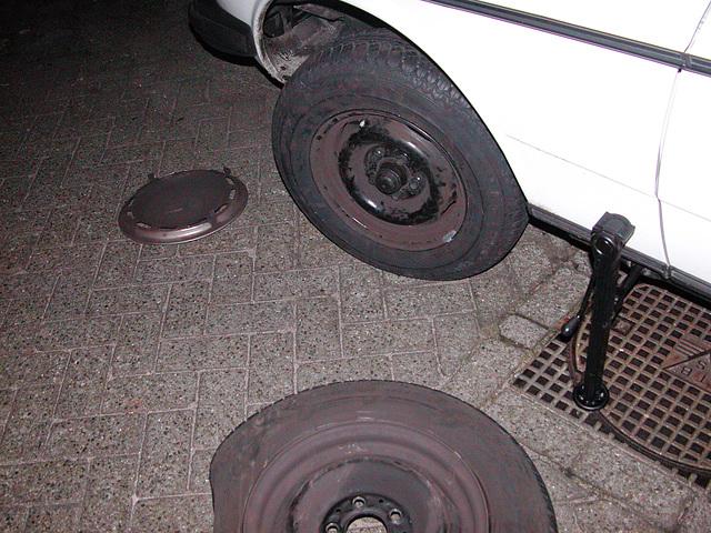 I had a flat tyre tonight