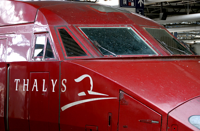 Train journey to London: Thalys at the Brussels South Station