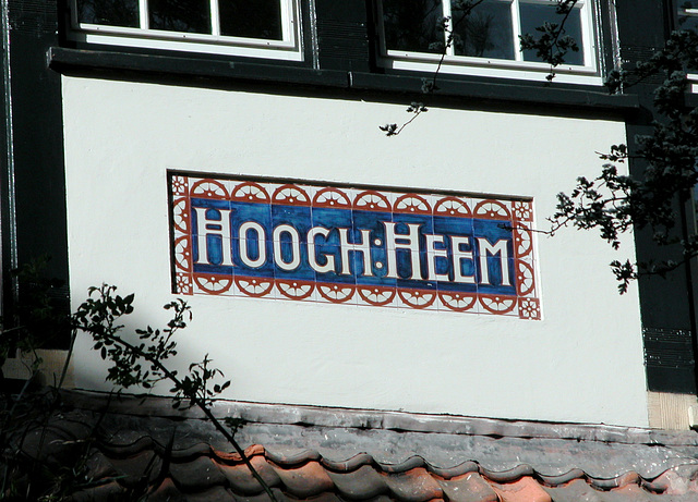 The name of a house in Bloemendaal