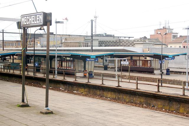 Train journey to London: Mechelen train station