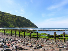 The beach and cliffs at Gardenstown Summer