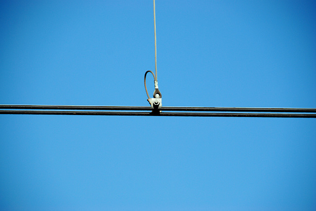 Celebration of the centenary of Haarlem Railway Station: overhead power wire at Zandvoort