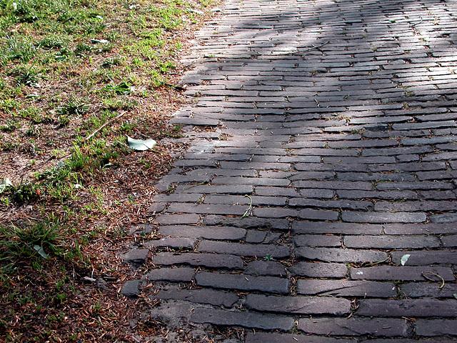 Horizontal stone road pattern