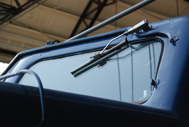 Celebration of the centenary of Haarlem Railway Station: windscreen wiper of the 1202 engine