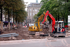 Works on the Buitenhof in The Hague