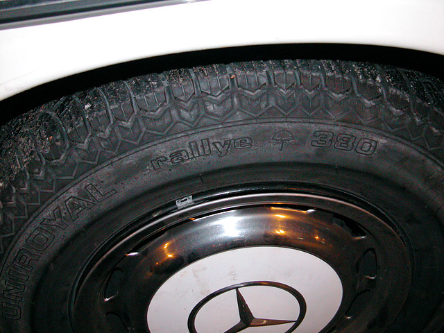 The spare tyre: a Uniroyal Rallye 380 from 1996