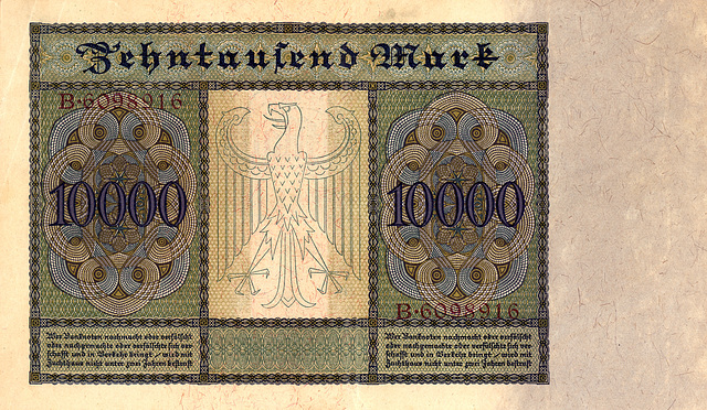 Old German money: 10,000 Mark from January 1922