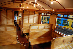"Celebration of the centenary of Haarlem Railway Station: 3rd-class interior of EMU C9002 ""Jaap"""