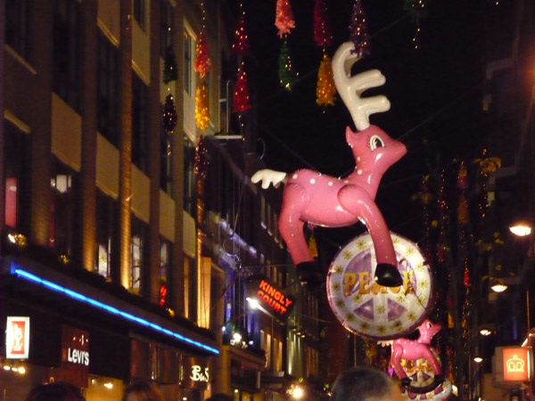 Peace and  pink reindeer