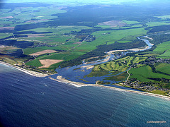 Speybay on the left, Kingston and Garmouth on the right