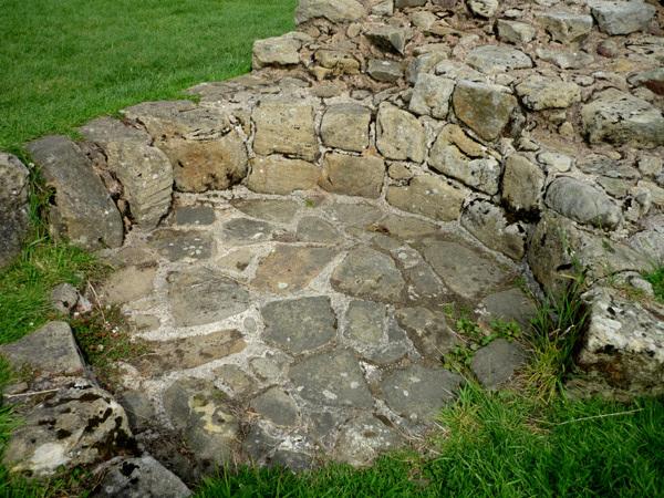 Medieval kiln at end of wall