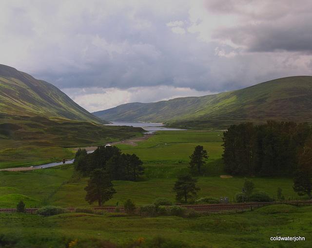 Dalnaspidal - view towards Loch Garry