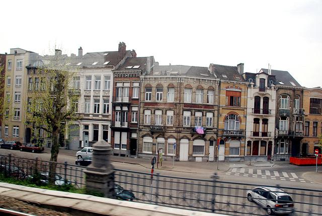 Train journey to London: Antwerp
