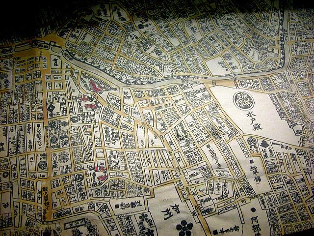 Old Japanese map of Edo