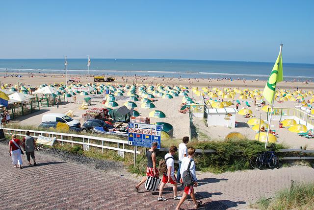 Celebration of the centenary of Haarlem Railway Station: Zandvoort beach