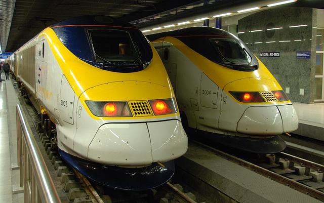 Eurostars 3002 & 3004 at Brussels