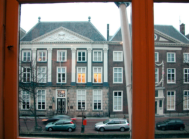 View of the Rapenburg from the Von Siebold House