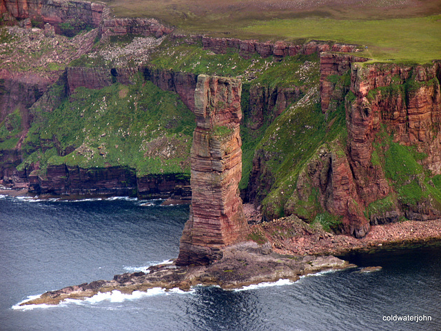 The Old Man of Hoy from the air