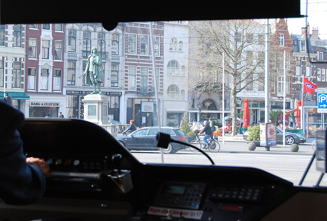 A view from the tram of The Hague