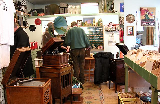 Visited a gramophone shop in Haarlem