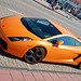 Celebration of the centenary of Haarlem Railway Station: Lamborghini Gallardo at Zandvoort