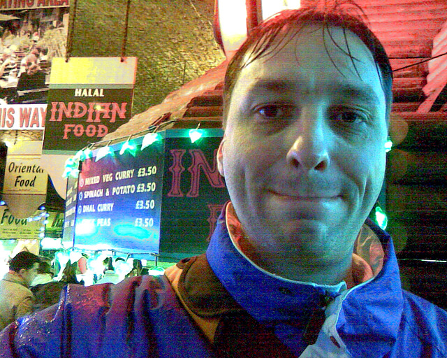 A visit to Camden Town: Me after some satisfying tandoori chicken